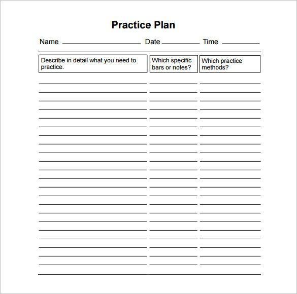 Practice Plan Template Basketball Pin On Action Plan Template Printable Design