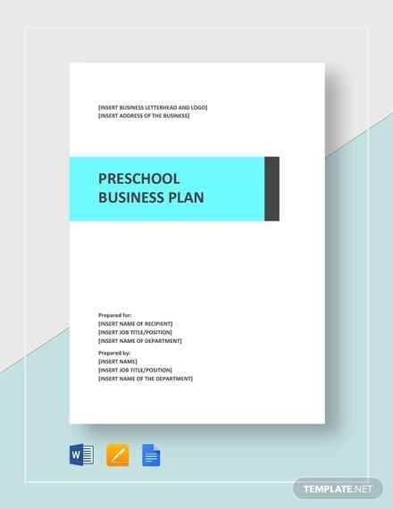 Preschool Business Plan Template 11 Preschool Business Plan Templates Pdf Word