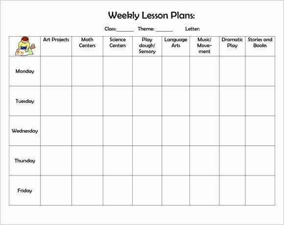 Printable Blank Lesson Plan Template Free Daily Lesson Plan Template Beautiful Free 8 Weekly
