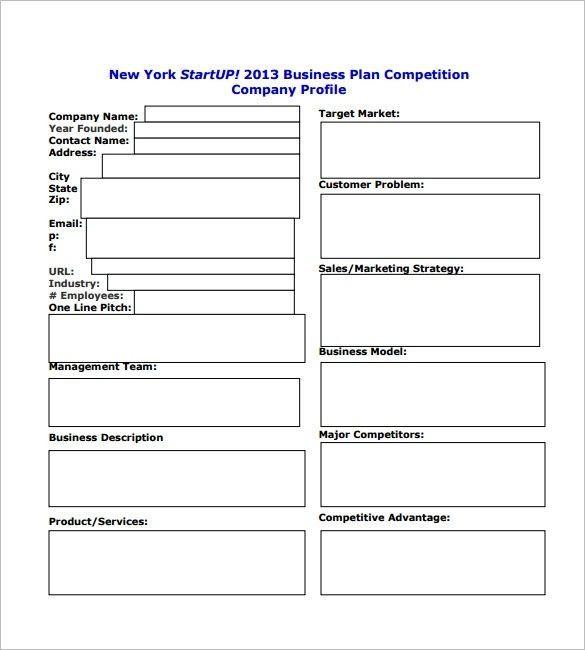 Printable Business Plan Template Business Plan Startup Template Startup Business Plan
