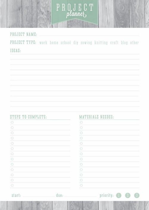 Printable Project Planner Template Home organizer Goal Habit & Project Planning Free