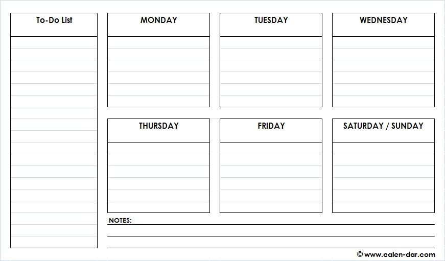 Printable Weekly Planner Template Pin On Schedule Planner