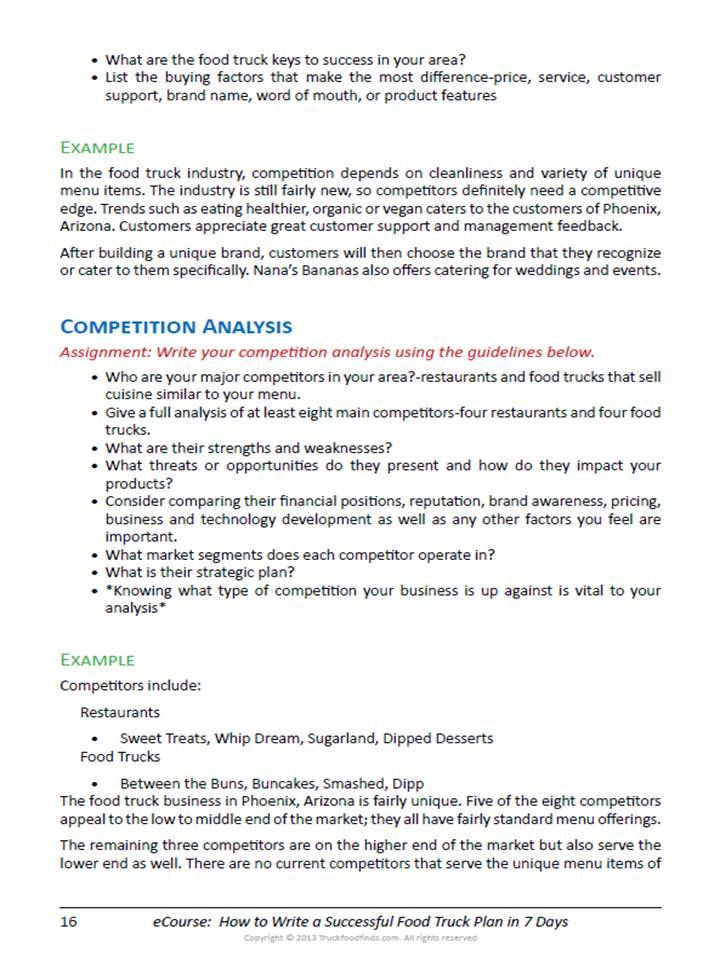 Private Practice Business Plan Template How to Write A Food Truck Business Plan In 7 Days