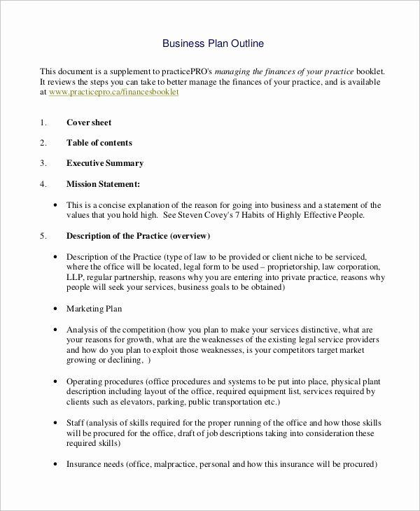 Private Practice Business Plan Template Simple Business Plan Outline Lovely Sample Business Plan