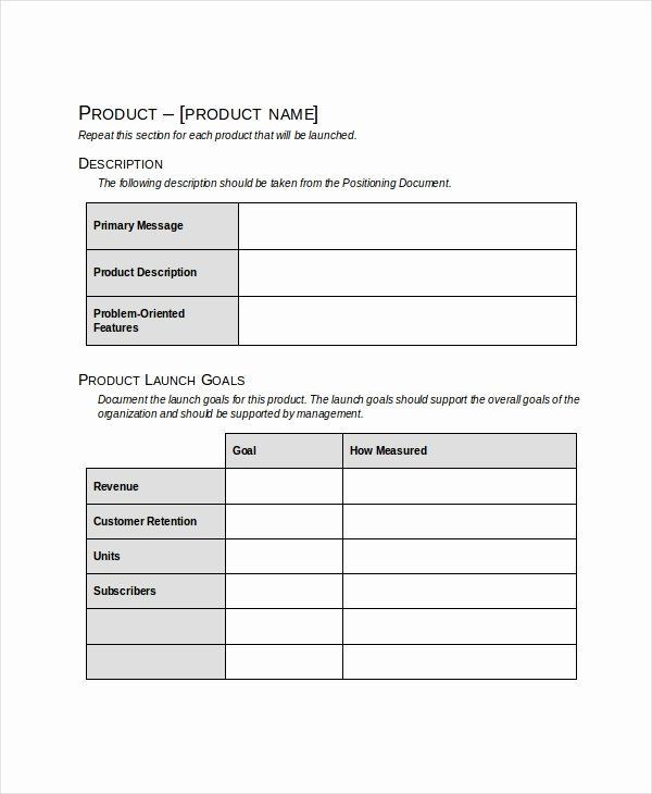 Product Launch Plan Template Free Product Launch Plan Template Excel Best Product Launch