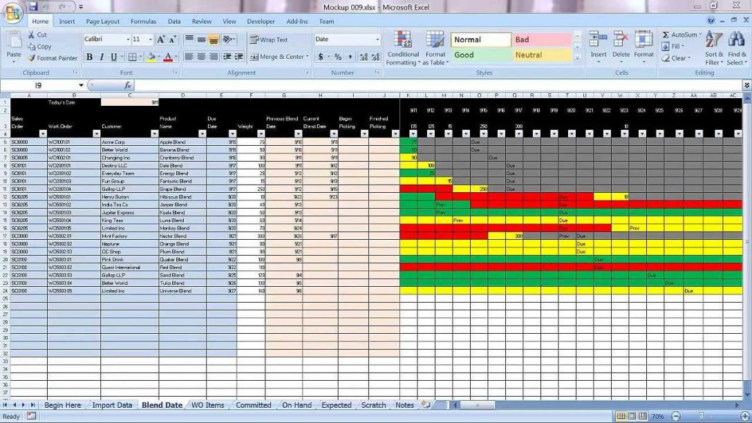 Production Planning Excel Template Manufacturing Production Schedule Template Excel