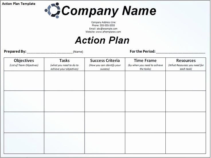 Project Management Action Plan Template 30 Action Plan Template for Managers In 2020