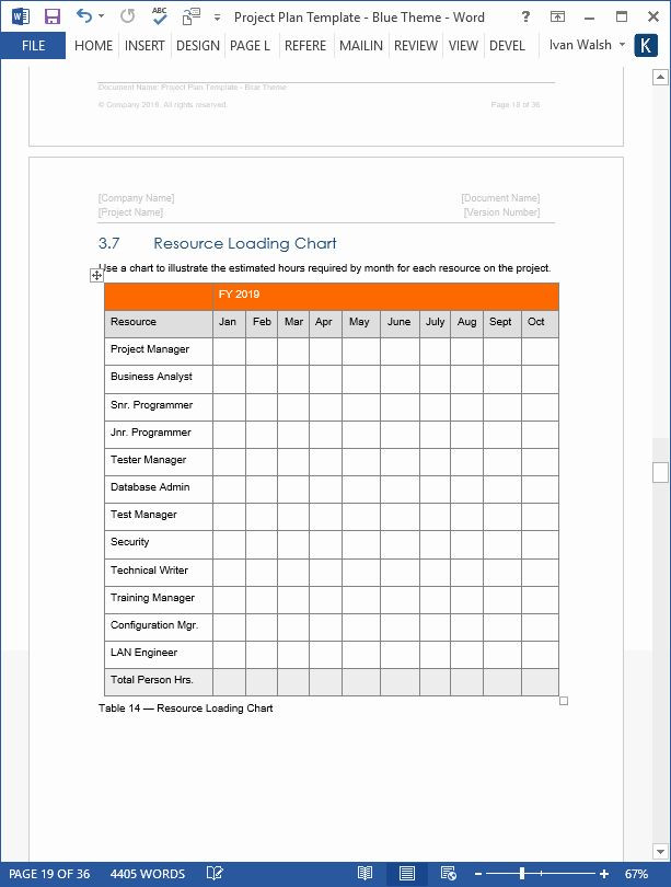 Project Plan Template Word Project Plan Template Word Best Project Plan Template