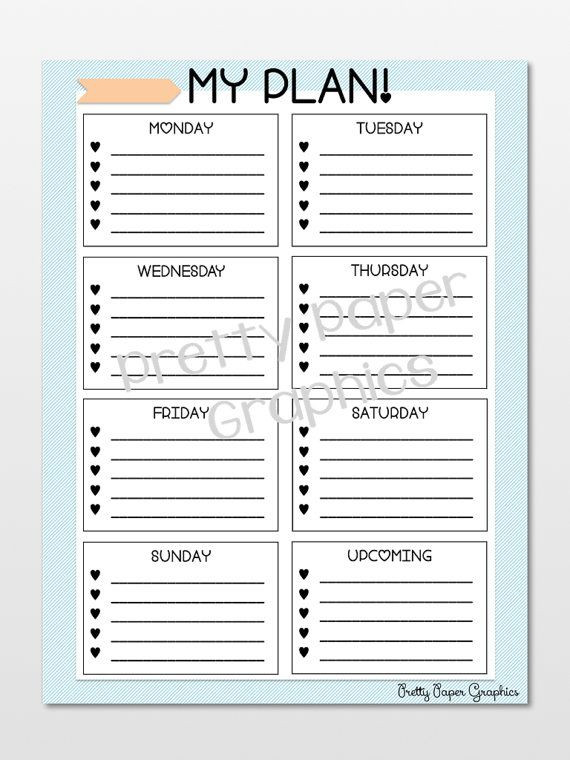 Real Estate Daily Planner Template My Plan Instant Download Digital Graphic for Printing Modern