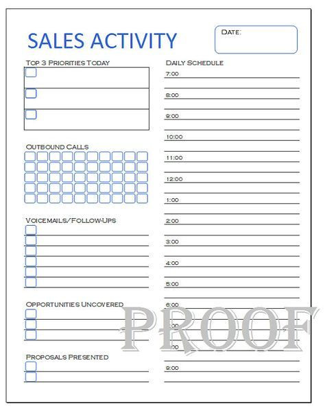 Real Estate Daily Planner Template Sales Activity Tracker Daily Planner Cold Call Tracker