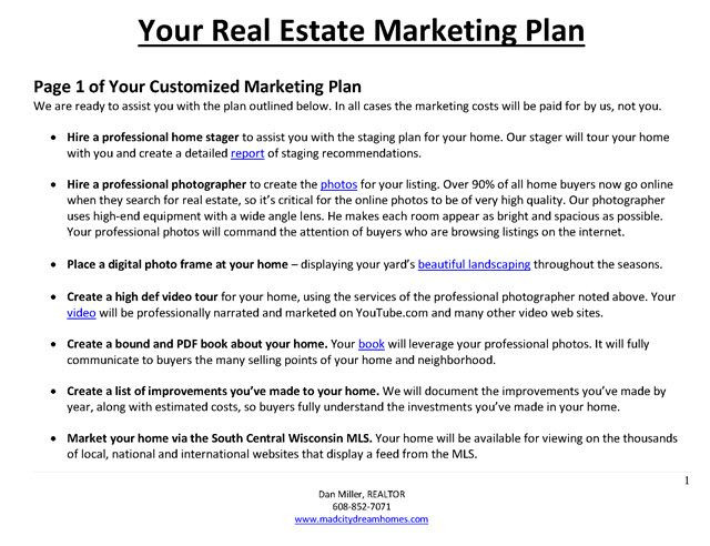 Real Estate Marketing Plan Template It S Time to Prepare for Next Year S Listing