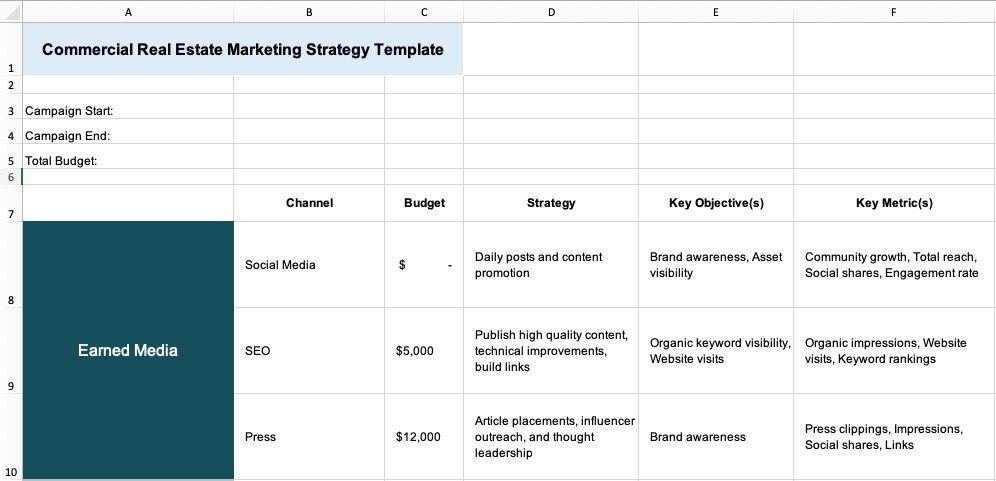Real Estate Marketing Plan Template Leasing Marketing Plan
