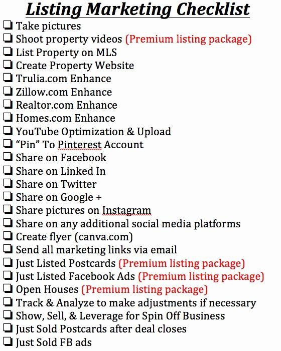 Real Estate Marketing Plan Template Real Estate Marketing Plan Template Fresh Listing
