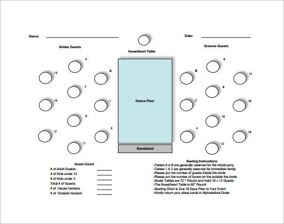 Rectangle Table Seating Plan Template 20 Members Table Seating Chart Free Pdf Template 585