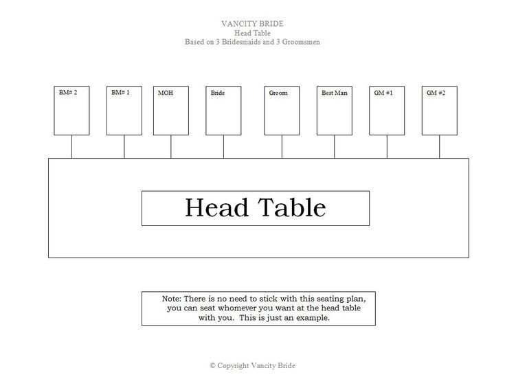 Rectangle Table Seating Plan Template 5 Free Wedding Templates to Help You Seat Your Guests