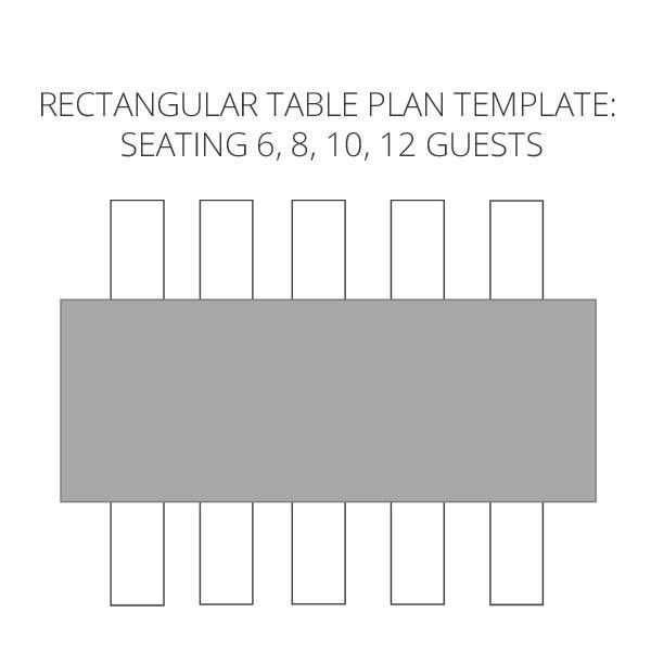 Rectangle Table Seating Plan Template Rectangle Table Seating Plan Template New Wedding Seating