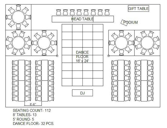Rectangle Table Seating Plan Template Table Arrangements