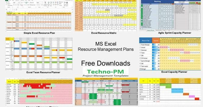 Resource Capacity Planning Excel Template Free Resource Management Templates for Multiple Projects
