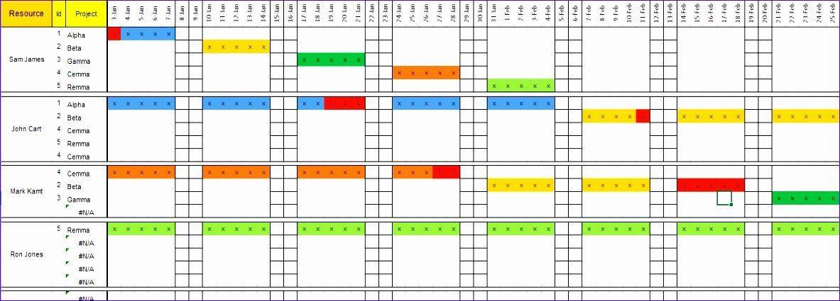 Resource Planning Excel Template √ 30 Resource Capacity Planning Excel Template In 2020