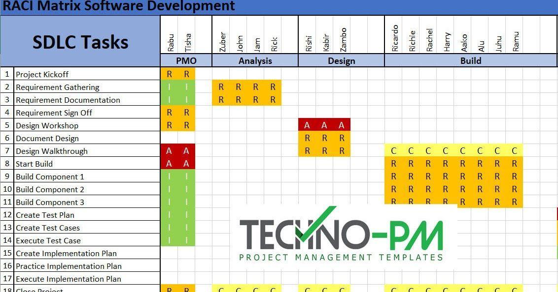 Resource Planning Excel Template Raci Matrix Template Excel