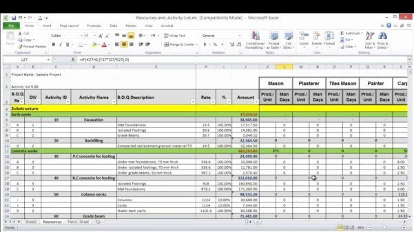 Resource Planning Excel Template Resource Planning Template Excel New Spreadsheet Template