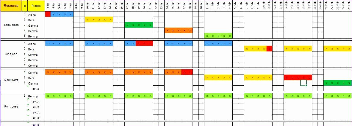 Resource Planning Template Excel √ 30 Resource Capacity Planning Excel Template In 2020