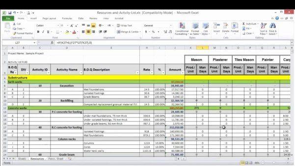 Resource Planning Template Excel Resource Planning Template Excel New Spreadsheet Template