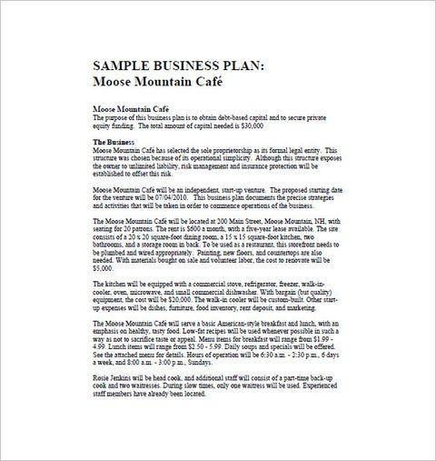 Restaurant Business Plan Template Pdf 21 Word Excel Pdf Google Docs Apple Pages format