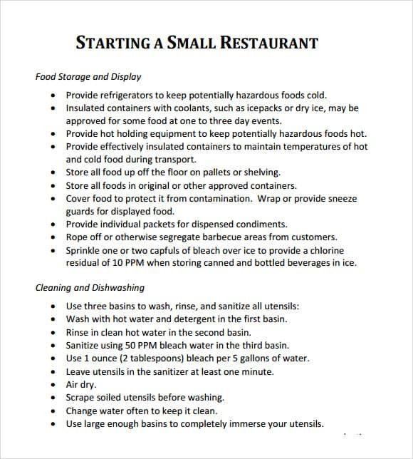 Restaurant Business Plan Template Pdf Restaurant Business Plan Template Word Elegant 32 Free
