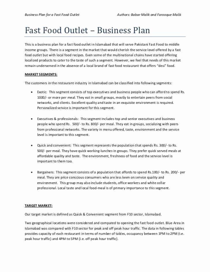 Restaurant Business Plan Template Word Restaurant Business Plan Template Free Fresh top 5 Resources
