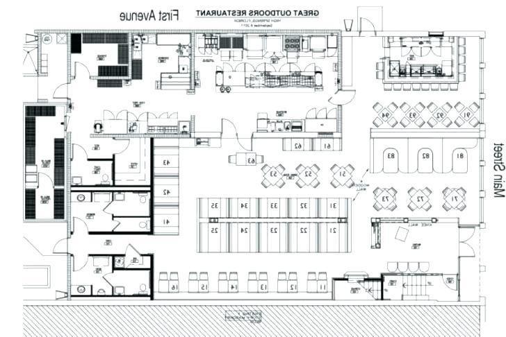 Restaurant Floor Plan Template Chinese Restaurant Kitchen Layout