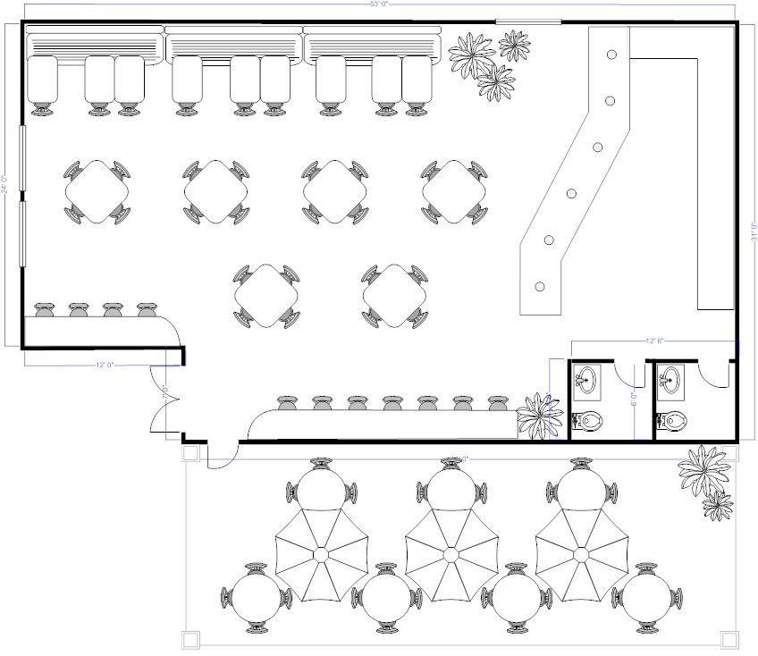 Restaurant Floor Plan Template Coffee Shop