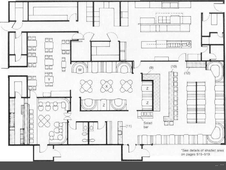 Restaurant Floor Plan Template Restaurant Floor Plan Layout with Kitchen Layout Included