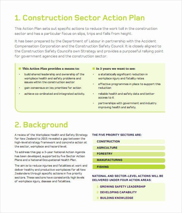 Safety Plan Template for Youth Construction Safety Plan Template Free Best 11 Sample