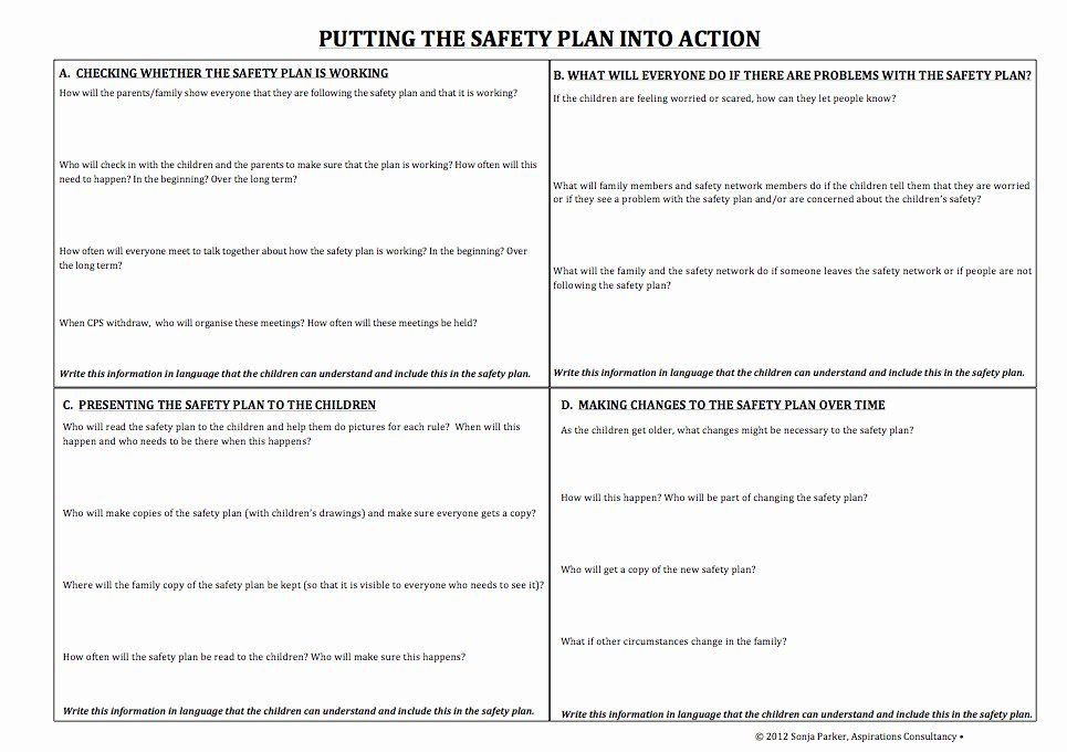 Safety Plan Template for Youth Family Safety Plan Template Luxury Specific tools and