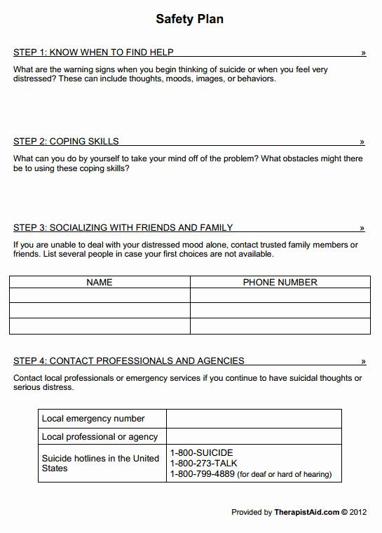 Safety Plan Template for Youth Pin On Business Plan Template for Startups
