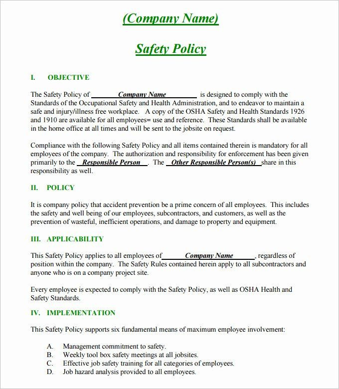 Safety Plan Template for Youth Safety Plan Template for Youth Fresh Free Safety Policy