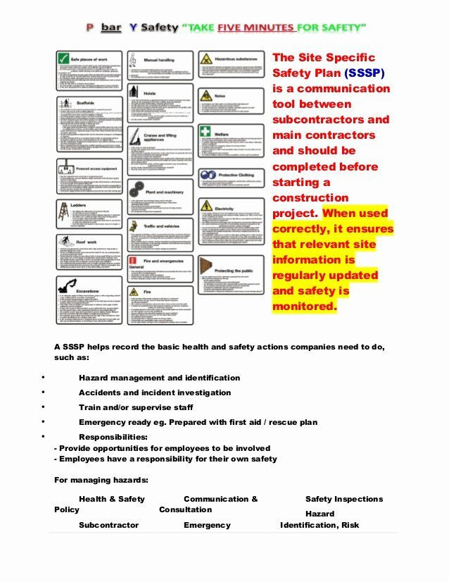 Safety Plan Template for Youth Site Safety Plan Template Unique Site Specific Safety Plan