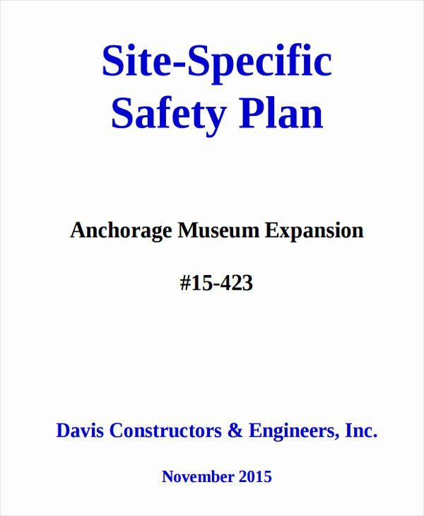 Safety Plan Template for Youth Site Specific Safety Plan Template Inspirational 29 Safety