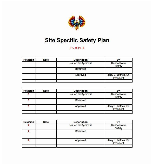 Safety Plan Template for Youth Site Specific Safety Plan Template New Sample Safety Plan