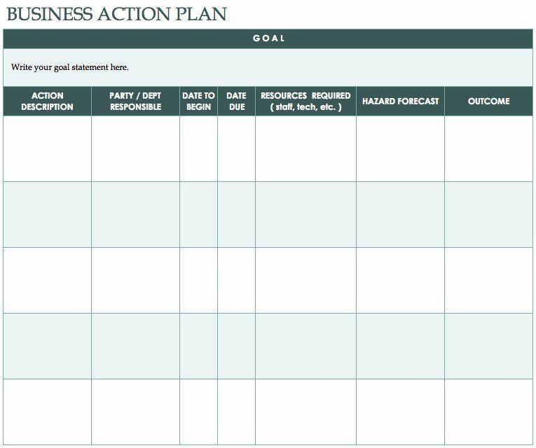 Sales Action Plan Template Excel Free Action Plan Template Unique Nice Design Template