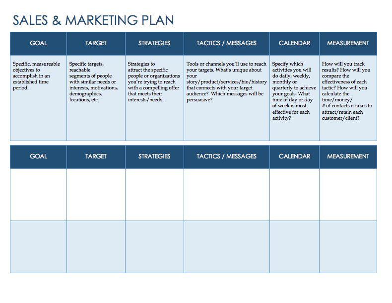 Sales Action Plan Template Excel Free Sales Plan Templates Smartsheet