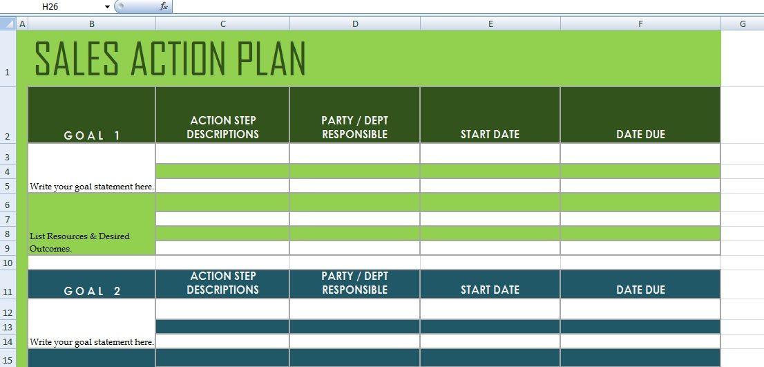 Sales Action Plan Template Excel Get Sales Action Plan Template Xls