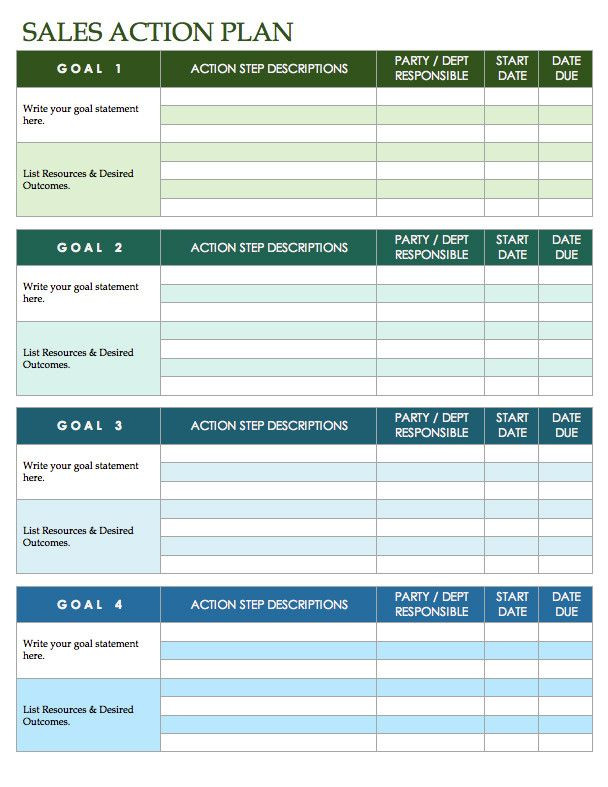 Sales Action Plan Template Excel Sales Action Plan Template Excel Fresh Free Sales Plan