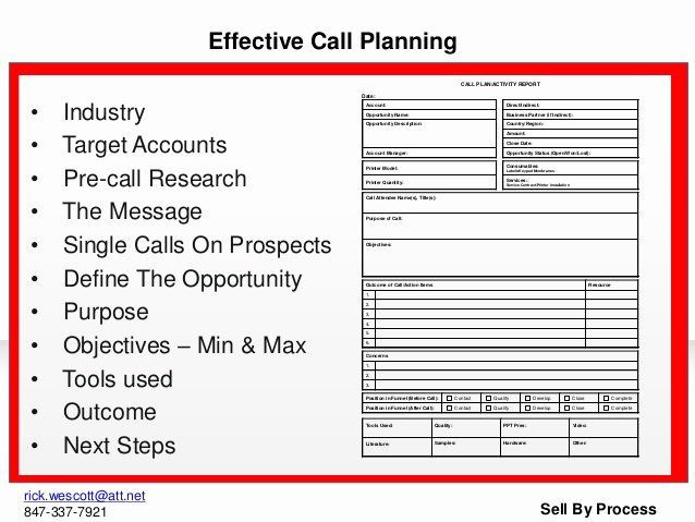 Sales Call Planner Template Sales Call Planning Template Lovely Pitch Book Presentation