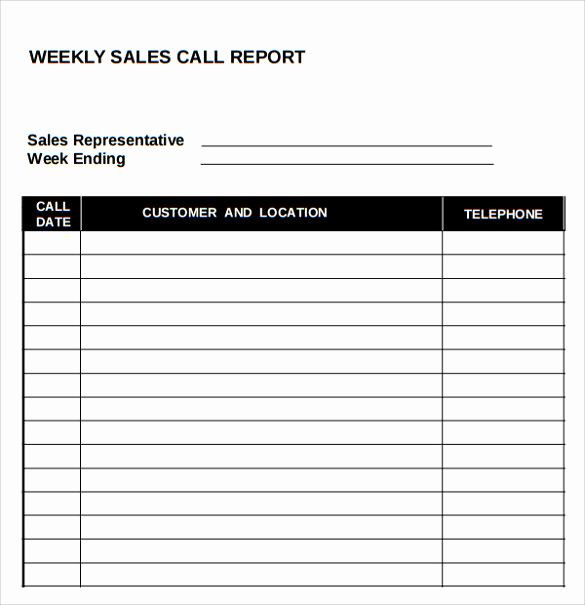 Sales Call Planner Template Sales Calls Report Template Luxury Sample Sales Call Report