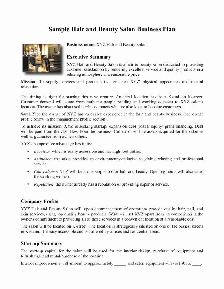 Salon Business Plan Template Salon Business Plan Template New Business Plan Sample