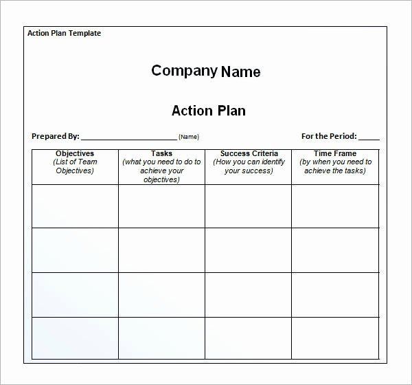 Simple Action Plan Template Action Planning Template Excel Inspirational Sample Action