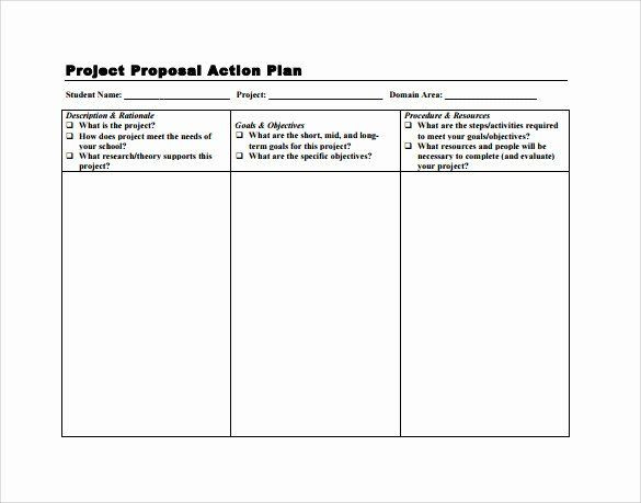 Simple Action Plan Template Simple Action Plan Template Inspirational Sample Project