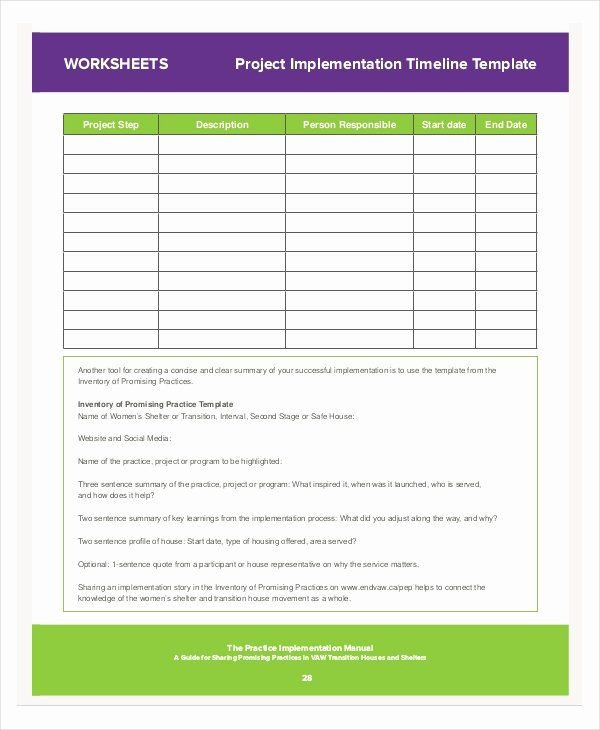 Simple Implementation Plan Template Simple Implementation Plan Template Beautiful 8 Project